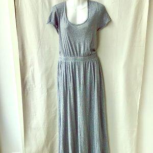 Free People Beach Grey Knit Maxi Dress, Size Large